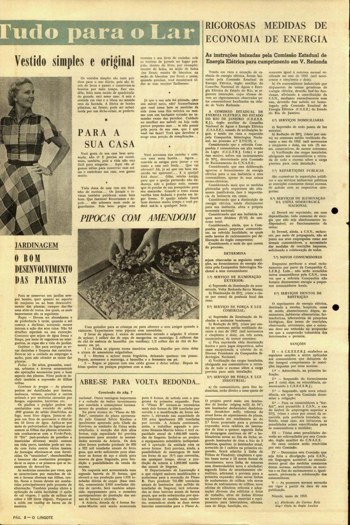 Volta Redonda -OLingote Edição 7 – 25 de Junho de 1953 - Página 8