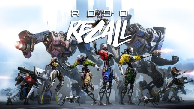 robo recall hero image screenshot of all the robots