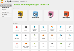 6 Zentyal package selection