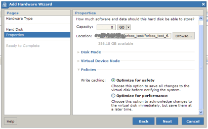 ESX4 disk policy
