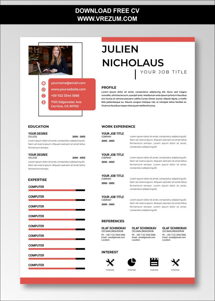 Free downloadable resume templates (available for word, libreoffice, google docs). Libreoffice 5 Resume Templates