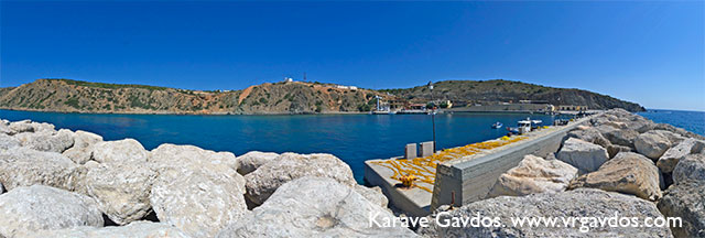 Karave. Gavdos - the port.