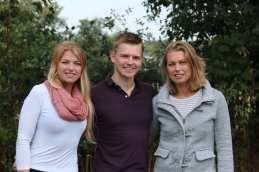Alanda, Johan en Carine