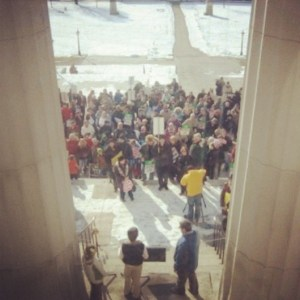 2014 Vermont Rally for Life Statehouse steps