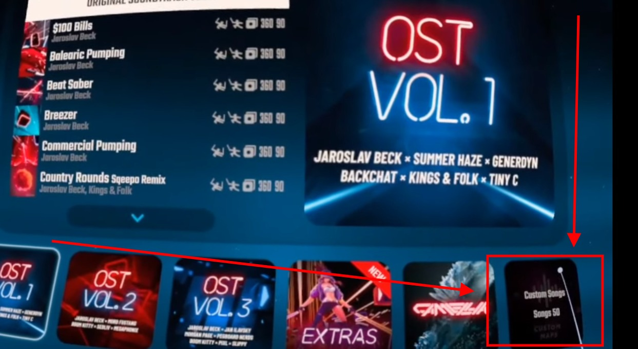 How to install custom beat saber songs on oculus quest using BMBF