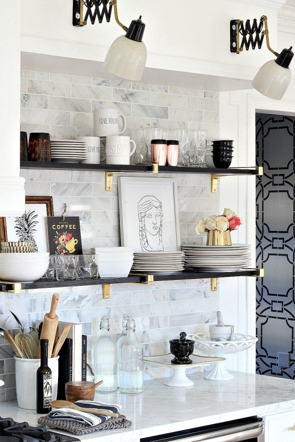 80 Floating Shelf Brackets Best Of Image Via Bliss at Home Kitchen