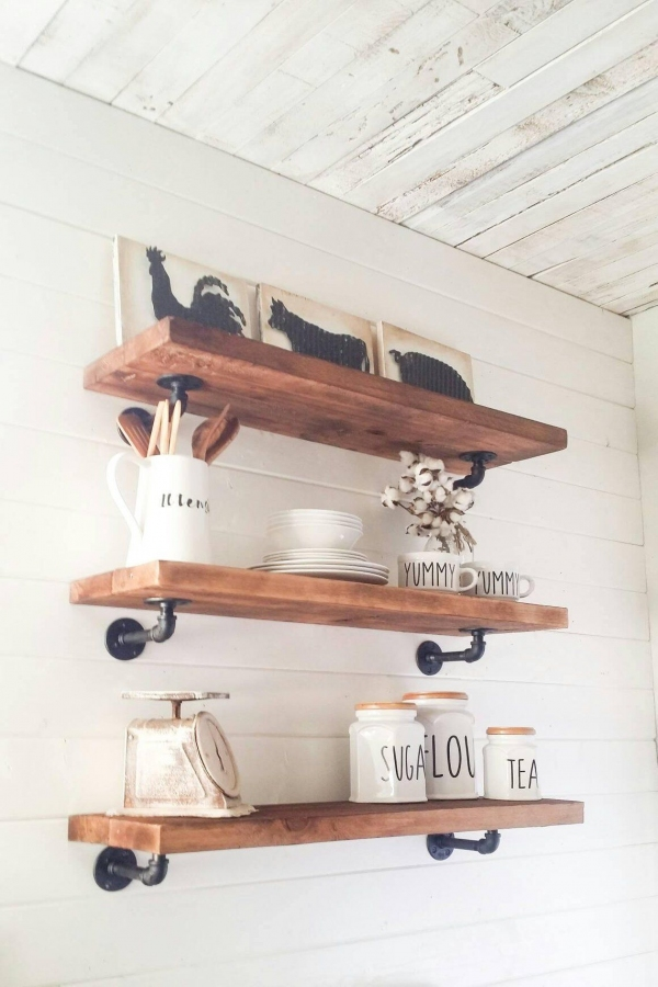 85 Sample Reclaimed Wood Floating Shelves Awesome Farmhouse Style Rustic Shelves Floating Shelves Wood Shelves