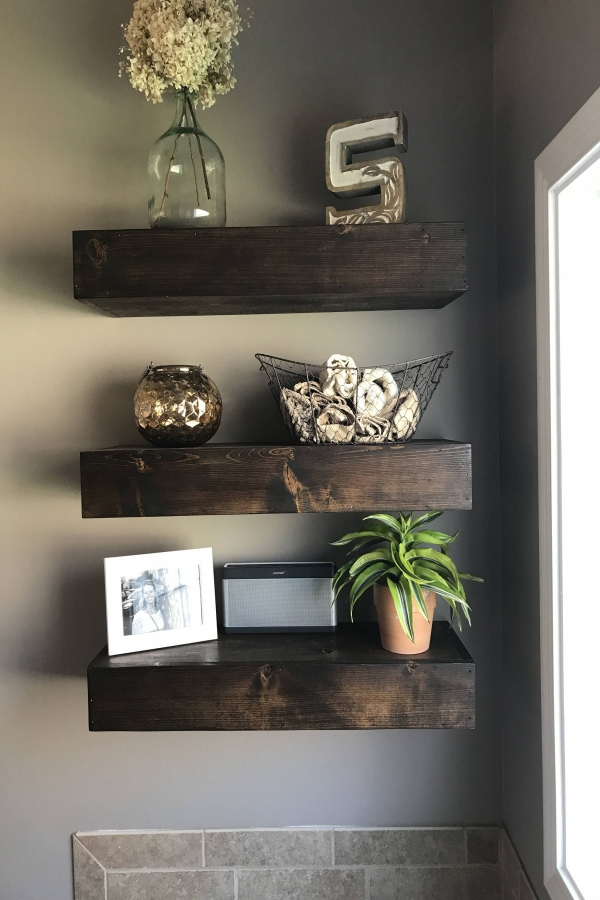 85 Sample Reclaimed Wood Floating Shelves Beautiful Wood Floating Shelf Floating Shelves Rustic Shelf Bathroom Shelf