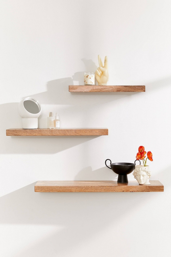 85 Sample Reclaimed Wood Floating Shelves Inspirational Simple Floating Wood Wall Shelf Simple Home