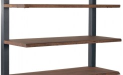 88 wood shelves with metal brackets awesome sequoia light brown bookcase kids room