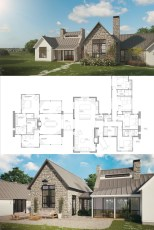 Contemporary Mountain Home Floor Plans Elegant the Ferrandaise E Story Farmhouse House Plan European Farmhouse