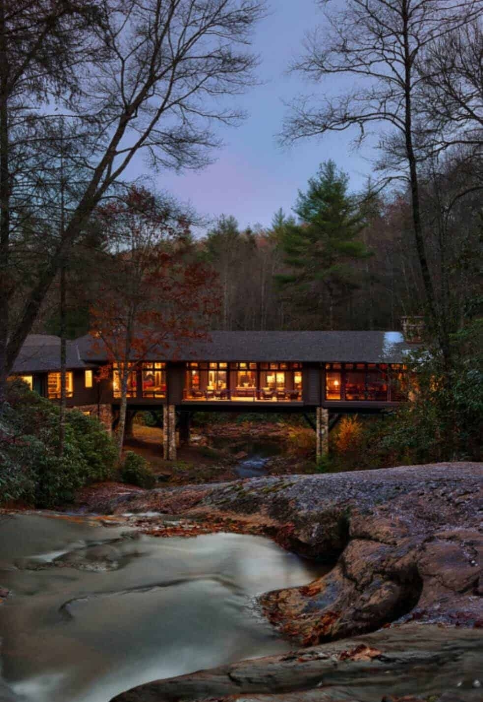 North Carolina Mountain Home Plans Inspirational Rustic Home In north Carolina Designed Above A Flowing Creek