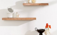 Reclaimed wood floating shelves lovely simple floating wood wall shelf simple home