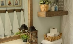 20 Lovely Farmhouse Bathroom Accessories Ideas