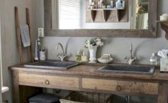 40 Cool Farmhouse Bathroom Remodel Ideas Lovely Indoor