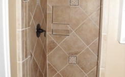 Contemporary Walk In Shower Design Idea Without Door Decoration For