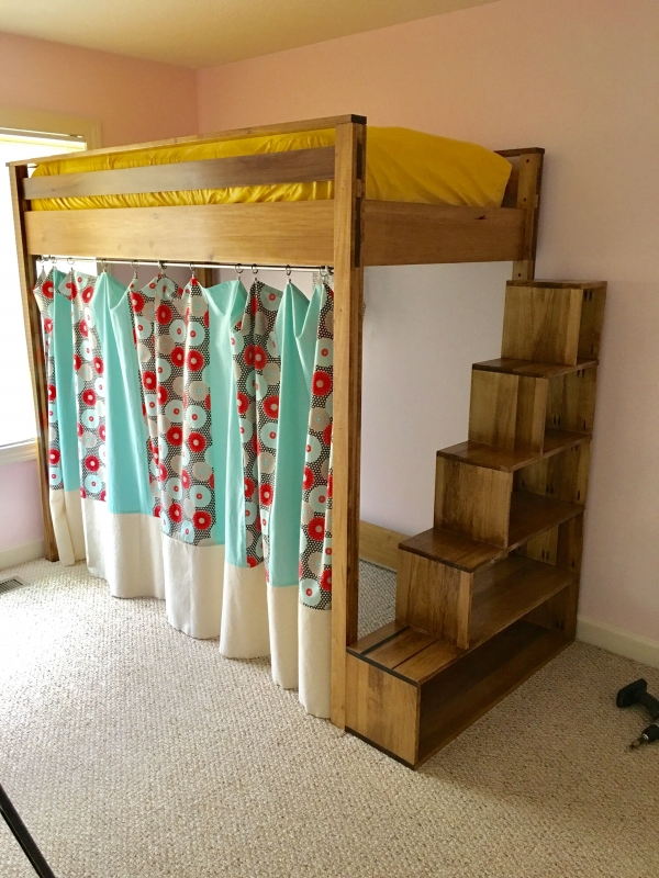 72 Most Popular Full Size Loft Bed with Stairs and What You Must Know 6349
