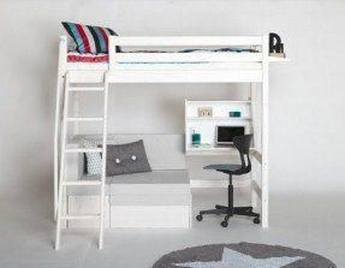 30+ Bunk Beds Design Ideas With Desk Areas Help To Make Compact Bedrooms Bigger 13