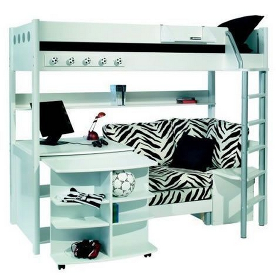 30+ Bunk Beds Design Ideas With Desk Areas Help To Make Compact Bedrooms Bigger 15