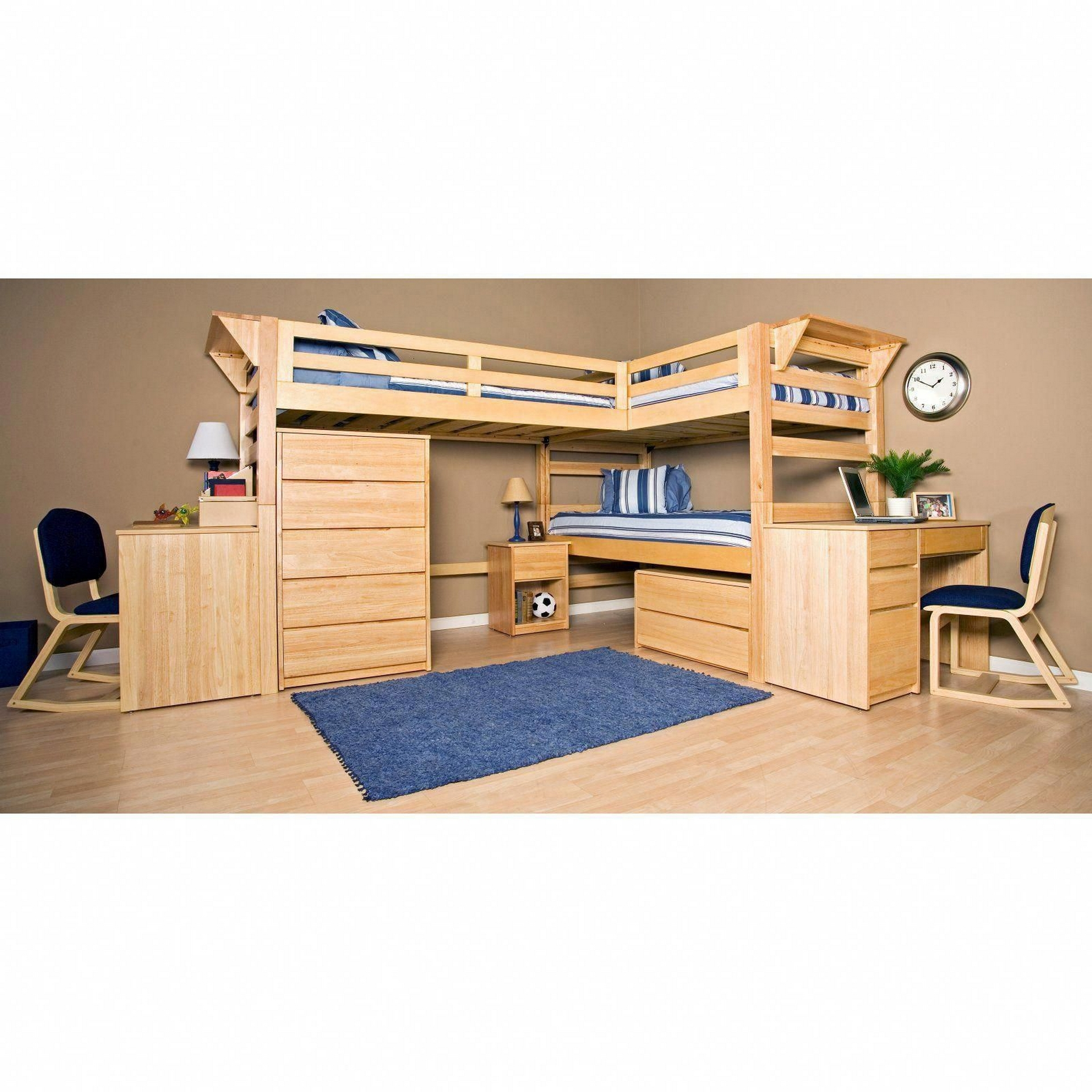 30+ Bunk Beds Design Ideas With Desk Areas Help To Make Compact Bedrooms Bigger 26