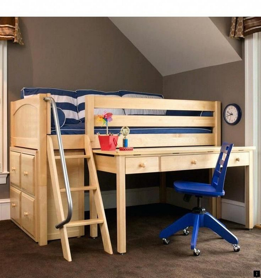 34 Bunk Bed Design Ideas With The Most Enthusiastic Desk In Interest 2