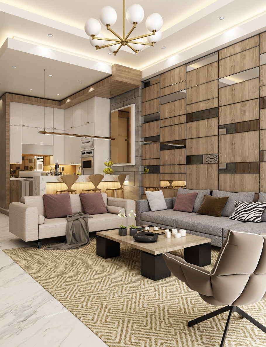 90 Interesting Modern Apartment Design Ideas - Tips On Redesigning Your Room for A More Dynamic Room-9901