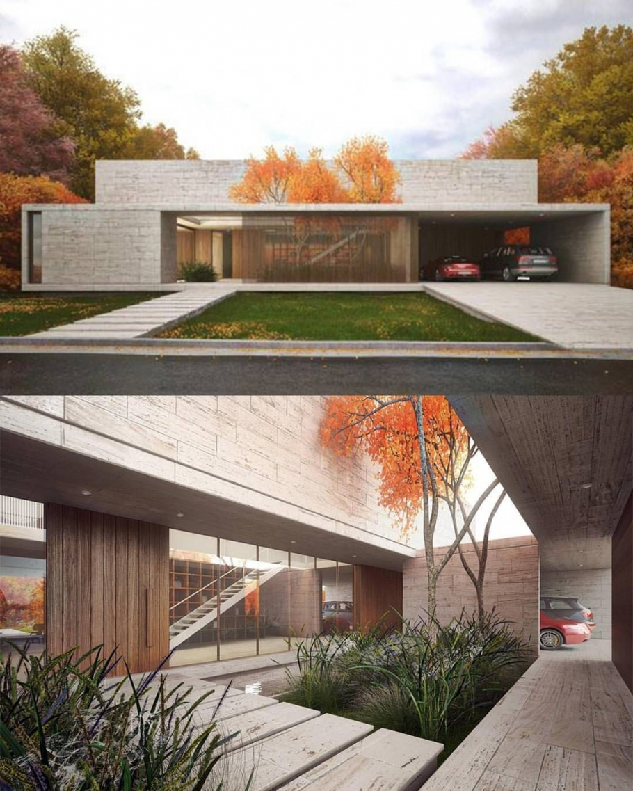 95 Examples Of Amazing Contemporary Flat Roof Design Of A House-9404