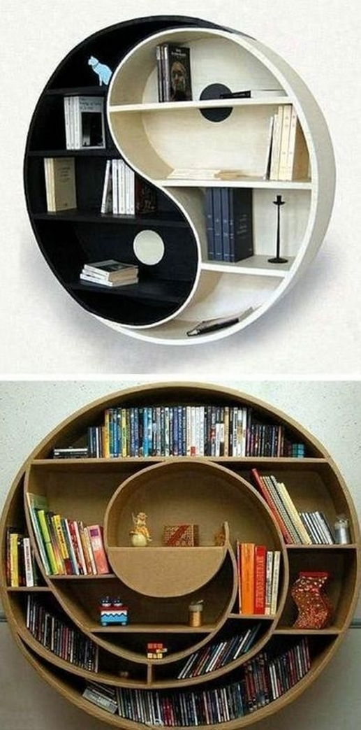 89 Models Beautiful Circular Bookshelf Design For Complement Of Your Home Decoration 2
