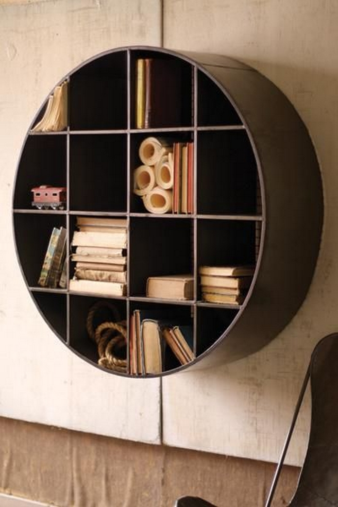 89 Models Beautiful Circular Bookshelf Design For Complement Of Your Home Decoration 20