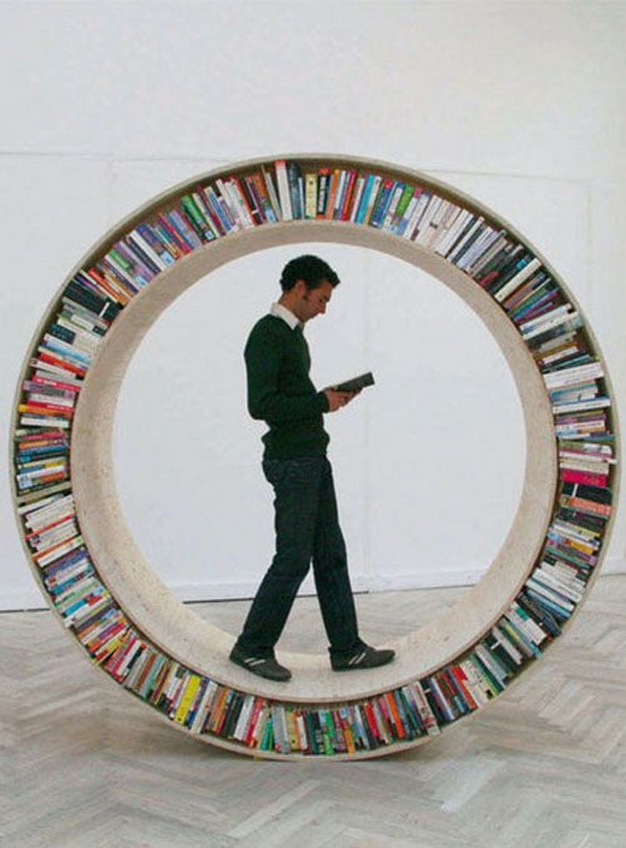 89 Models Beautiful Circular Bookshelf Design For Complement Of Your Home Decoration 24