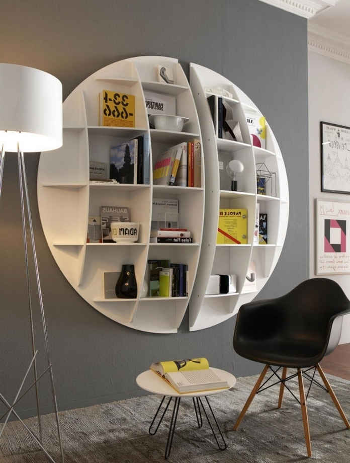 89 Models Beautiful Circular Bookshelf Design For Complement Of Your Home Decoration 49