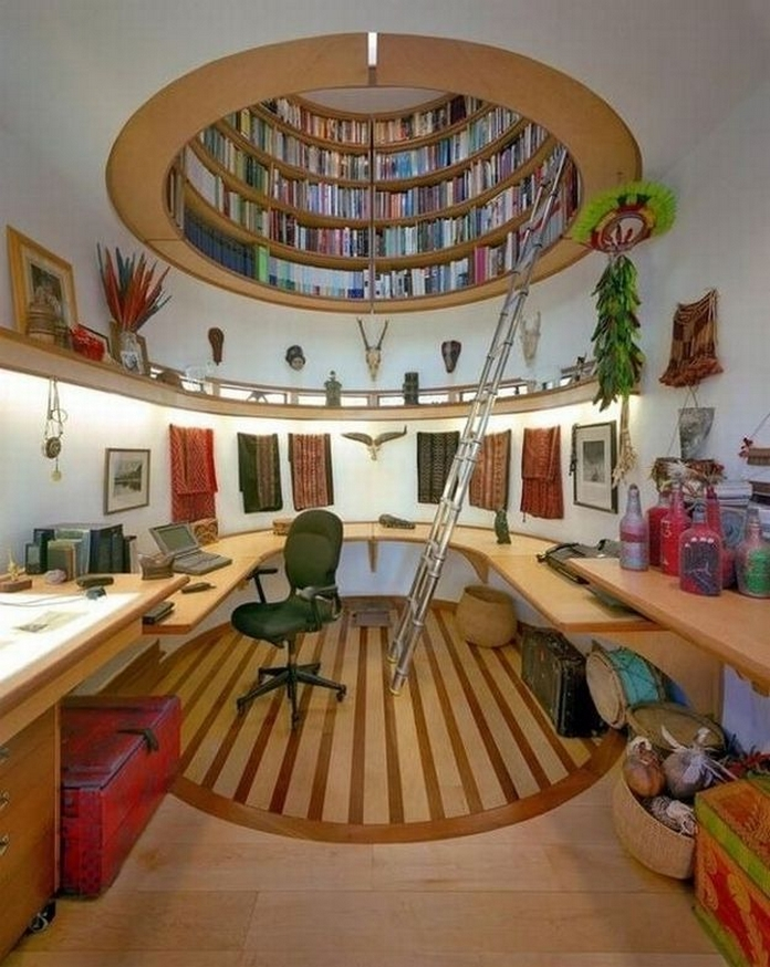 89 Models Beautiful Circular Bookshelf Design For Complement Of Your Home Decoration 57