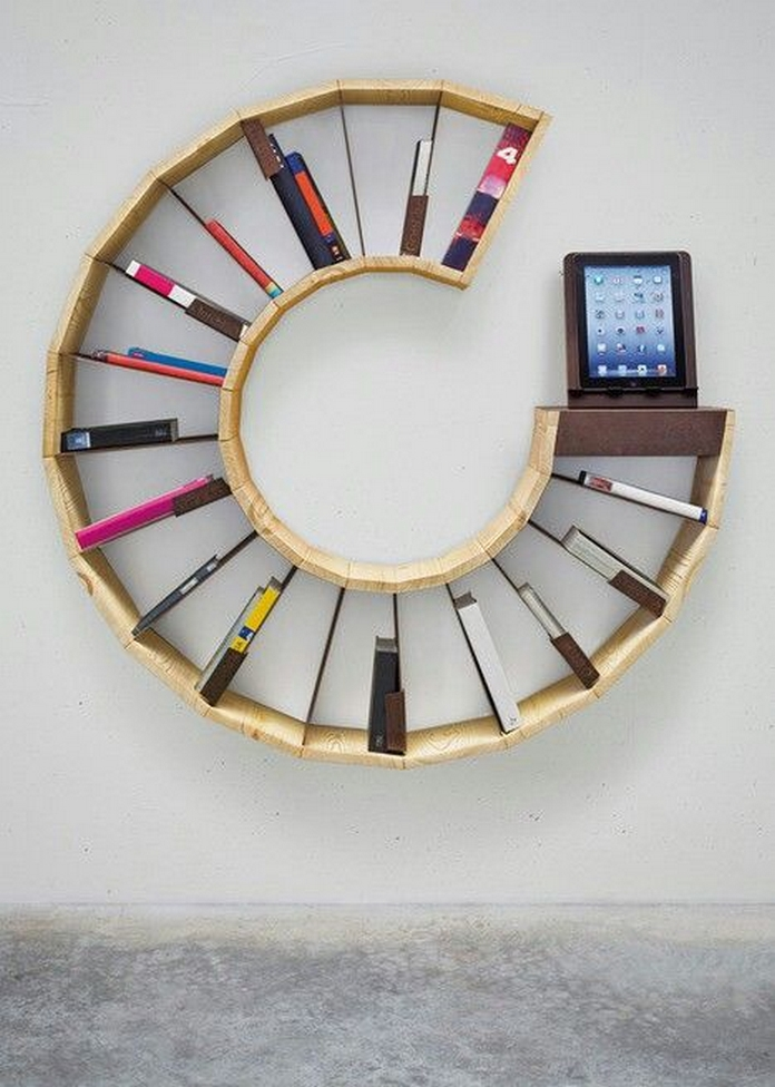 89 Models Beautiful Circular Bookshelf Design For Complement Of Your Home Decoration 6