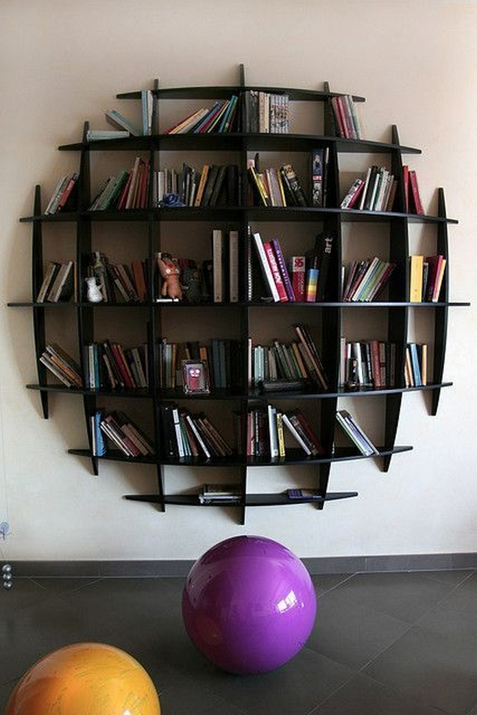 89 Models Beautiful Circular Bookshelf Design For Complement Of Your Home Decoration 8