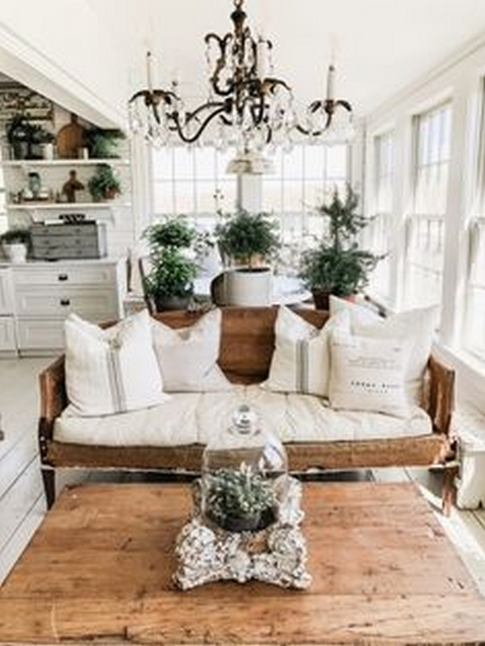 90 Most Popular Farmhouse Style Interior Design 53
