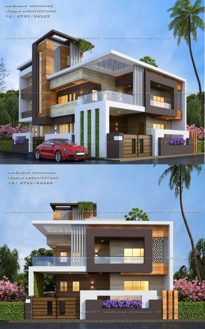 70+ Most Popular Modern Flat Roof House Design 14