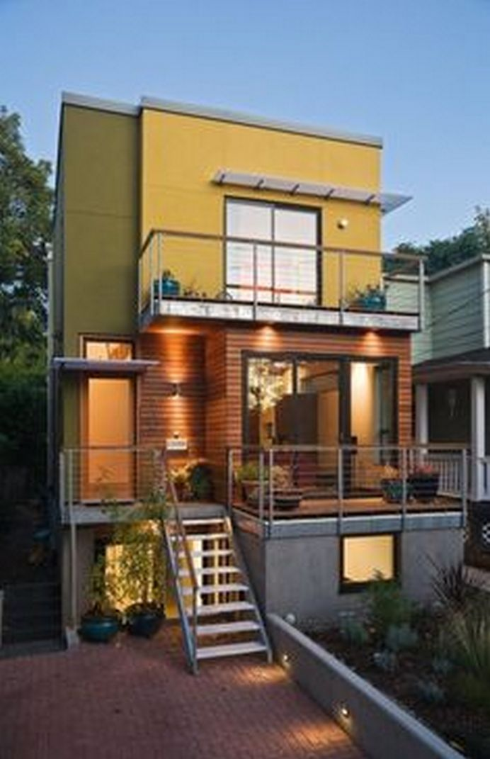 70+ Most Popular Modern Flat Roof House Design 71