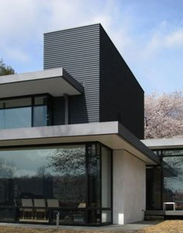70+ Most Popular Modern Flat Roof House Design 73