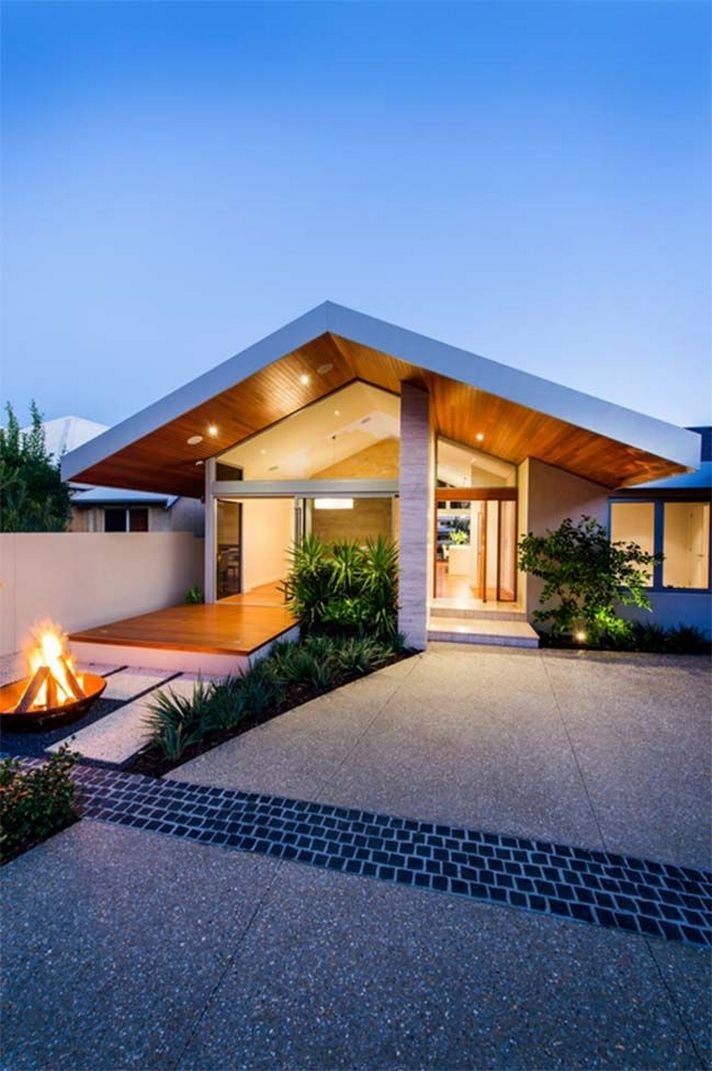 70+ Most Popular Modern Flat Roof House Design 8