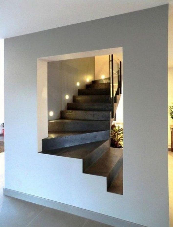 95 Cool Modern Staircase Designs For Homes (24)