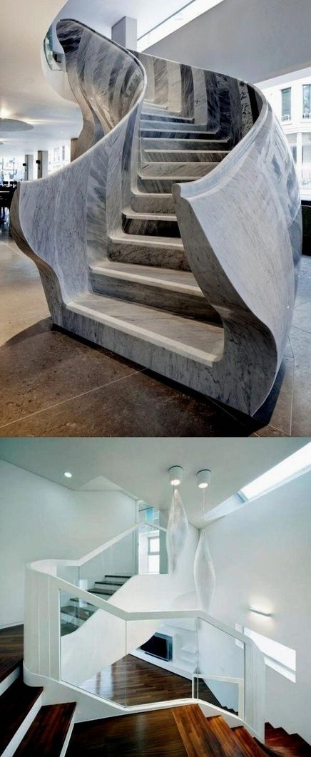 95 Cool Modern Staircase Designs For Homes (39)