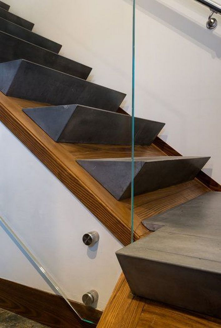 95 Cool Modern Staircase Designs For Homes (83)