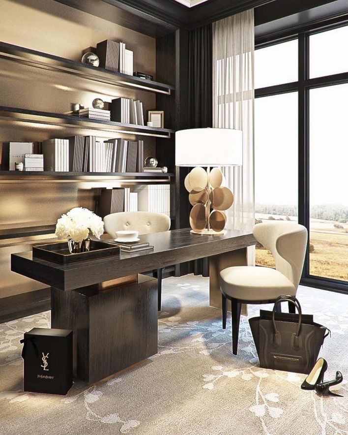 96 Modern Home Office Design Looks Elegant 10