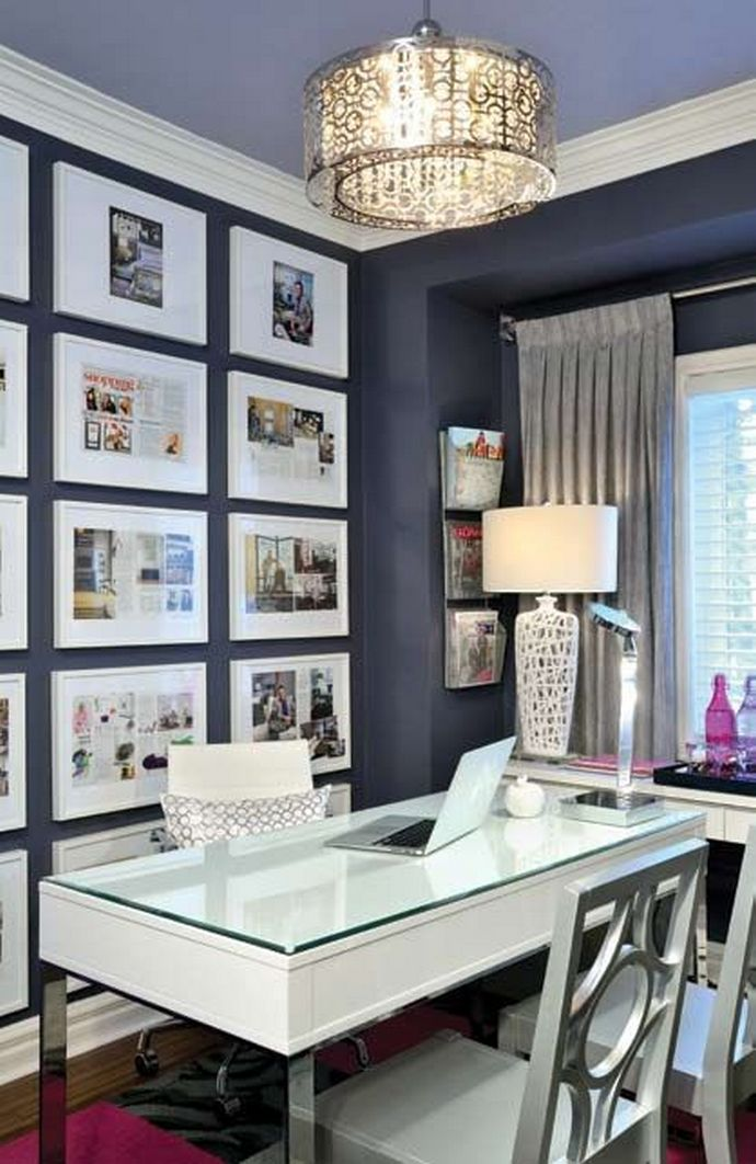 96 Modern Home Office Design Looks Elegant 15