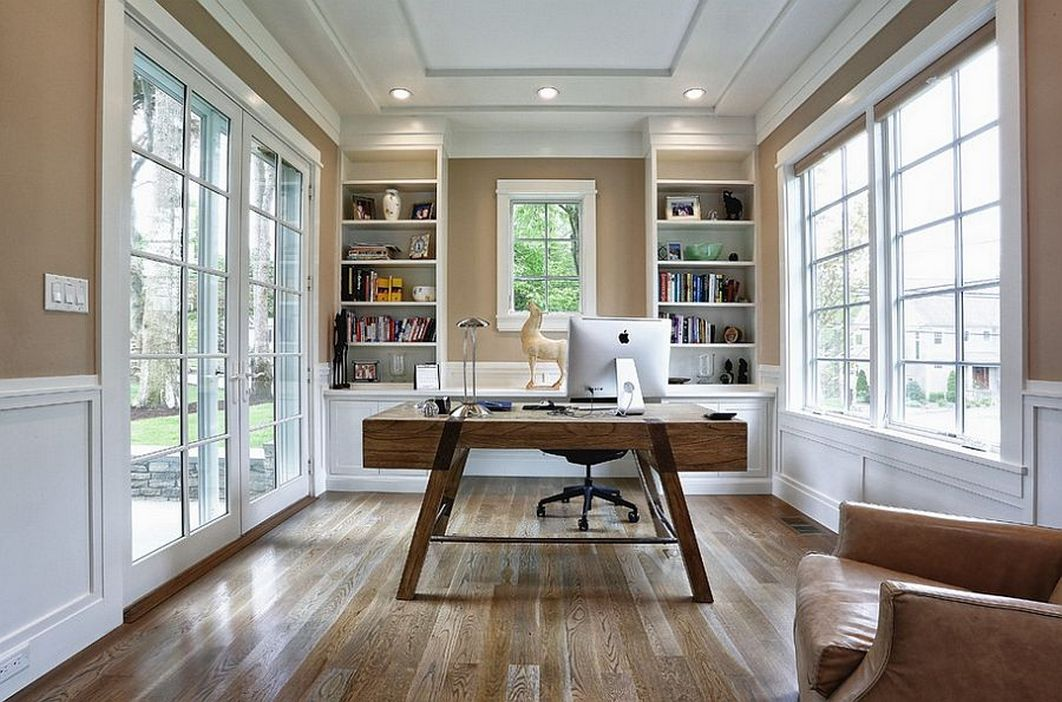96 Modern Home Office Design Looks Elegant 17