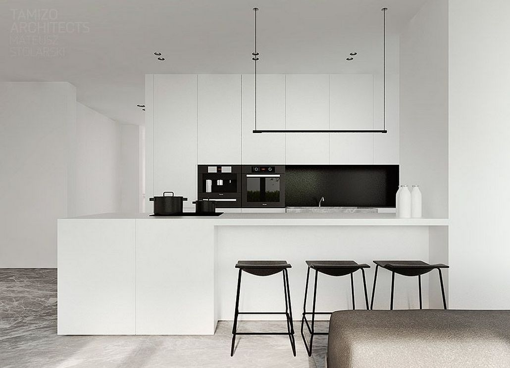 Beautifull Totally Modern Black And White Kitchen 42