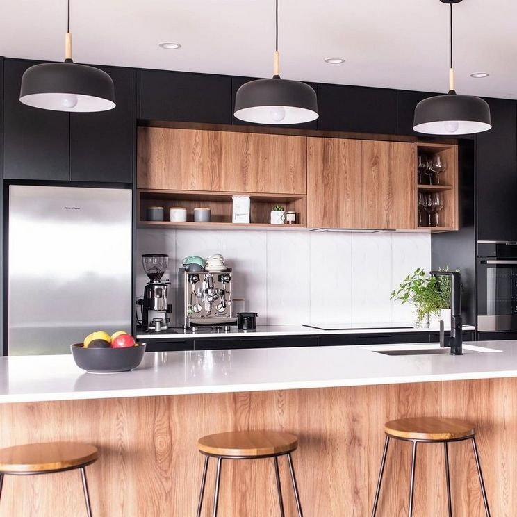 Beautifull Totally Modern Black And White Kitchen 68