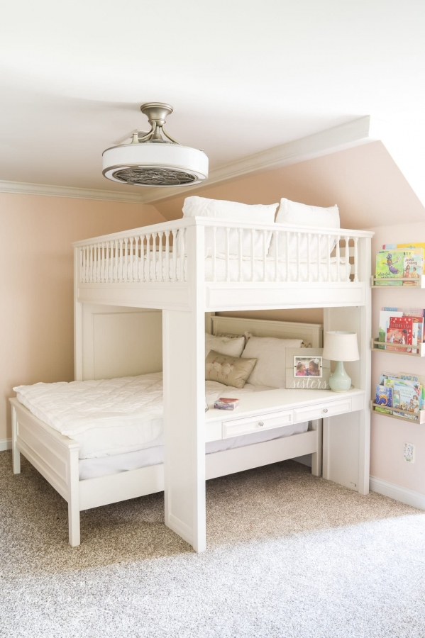 The Perfect Bedding for Bunk Beds & our New Loft Beds on Bunk Beds with Desk and Stairs
