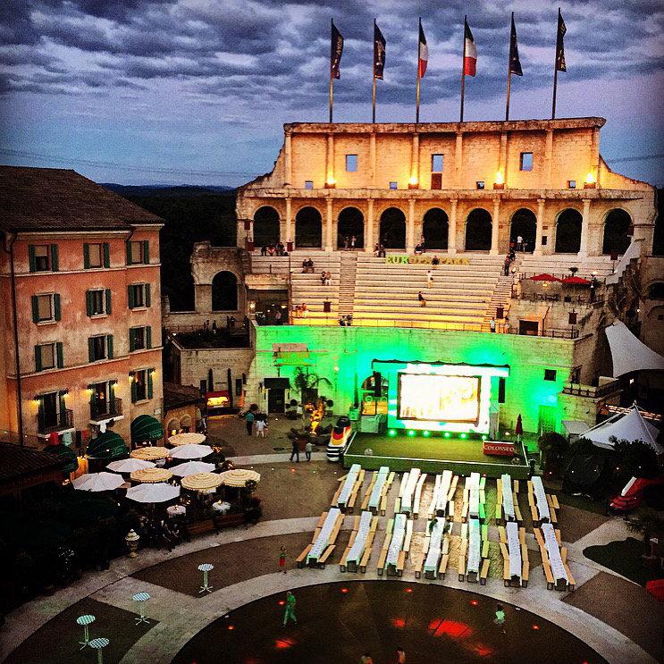 binnenplaats hotel Colosseo Europa-Park