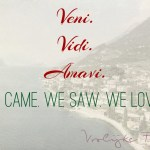 Quote: Veni, vidi, amavi. We came, we saw, we loved